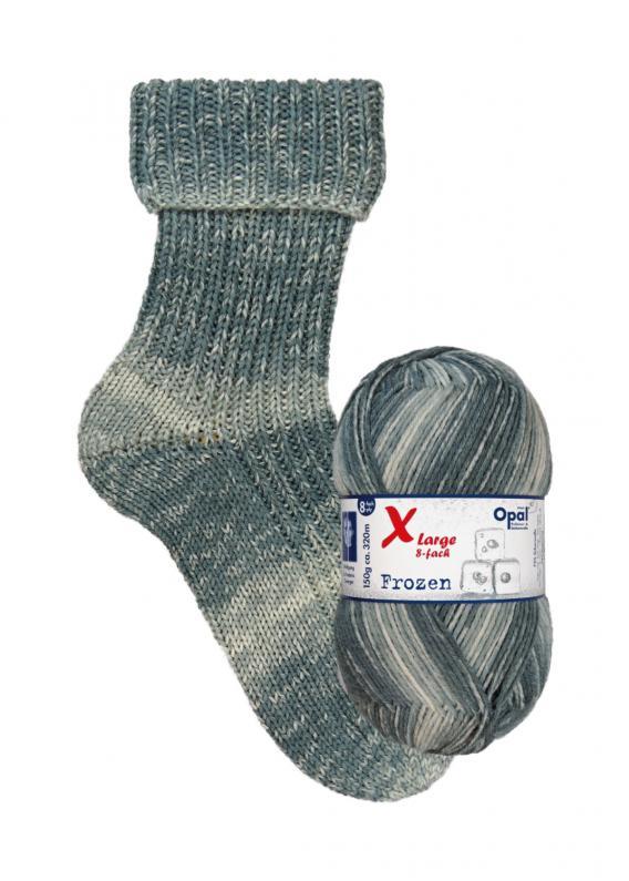 Opal X-Large 8 Fach Frozen Sockenwolle 9733