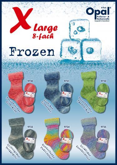 Opal X-Large 8 Fach Frozen Sockenwolle